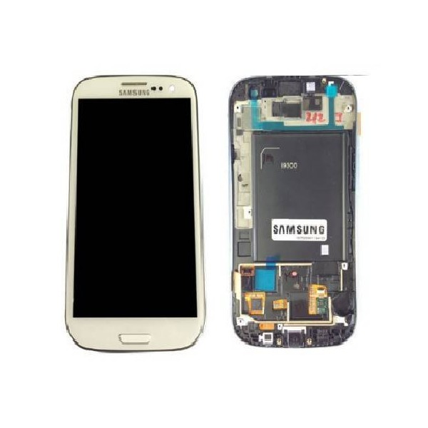 Samsung Galaxy S3 I9300 LCD Screen and Digitizer Assembly with Frame - White GH97-13630B