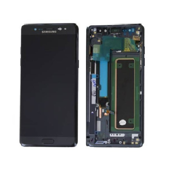 Samsung Galaxy Note 7 SM-N930F LCD Screen and Digitizer Assembly with Frame - Black - Original GH97-19302A