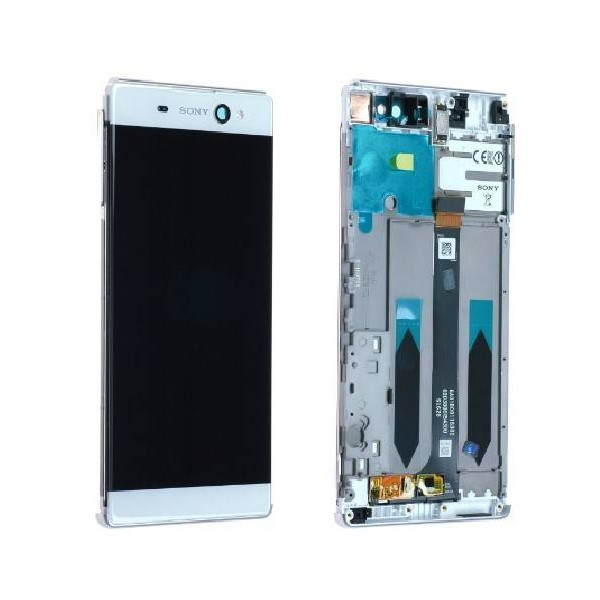 Sony Xperia XA Ultra LCD Screen and Digitizer Assembly with Frame - White - Original A/8CS-59290-0002
