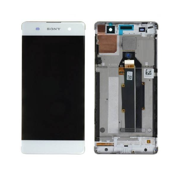 Sony Xperia XA LCD Screen and Digitizer Assembly with Frame - White - Original 78PA3100030