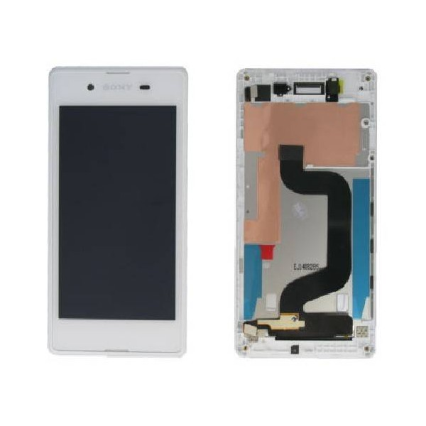 Sony Xperia E3 LCD Screen and Digitizer Assembly with Frame - White - Original