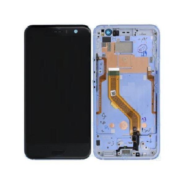 HTC U11 LCD Screen and Digitizer Assembly with Frame - Silver