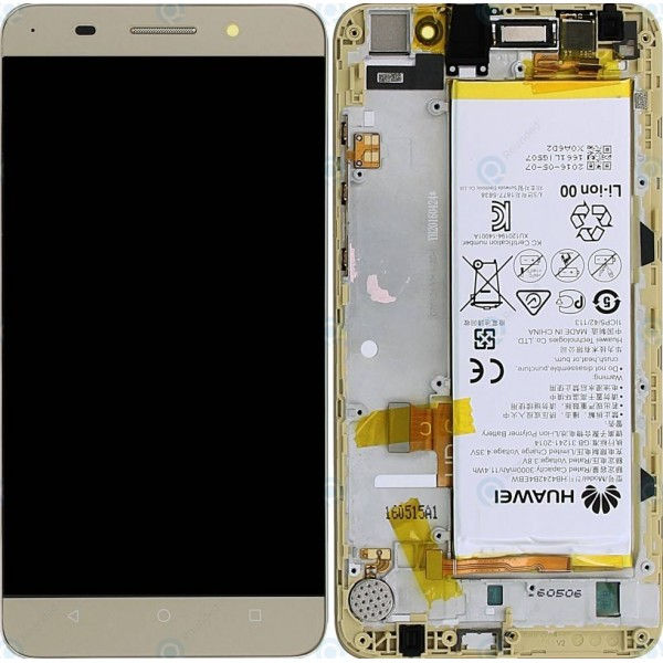 Huawei Honor 4X LCD Screen and Digitizer Assembly with Frame , Battery  - White - Original