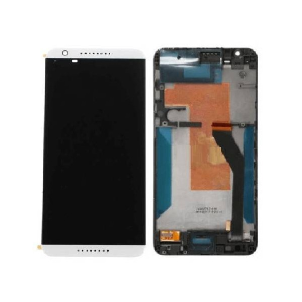 HTC Desire 820 LCD Screen and Digitizer Assembly with Frame - White
