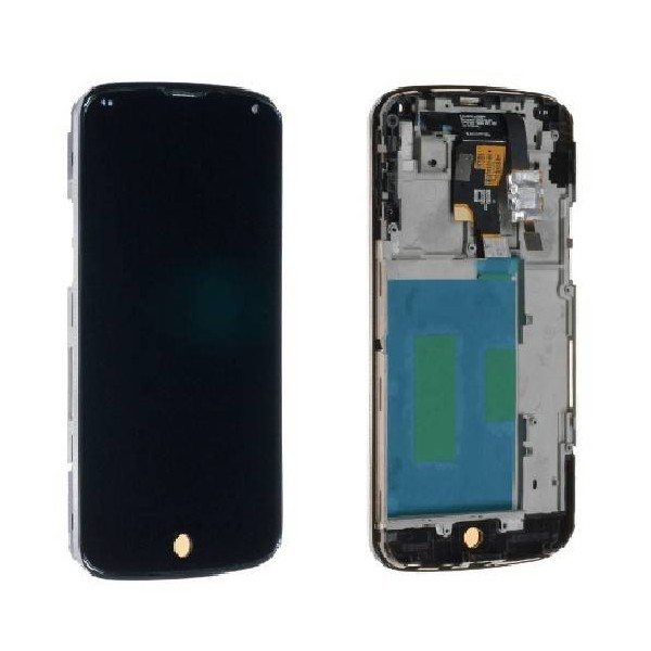 LG Nexus 4 E960 LCD Screen and Digitizer Assembly with Frame - Black