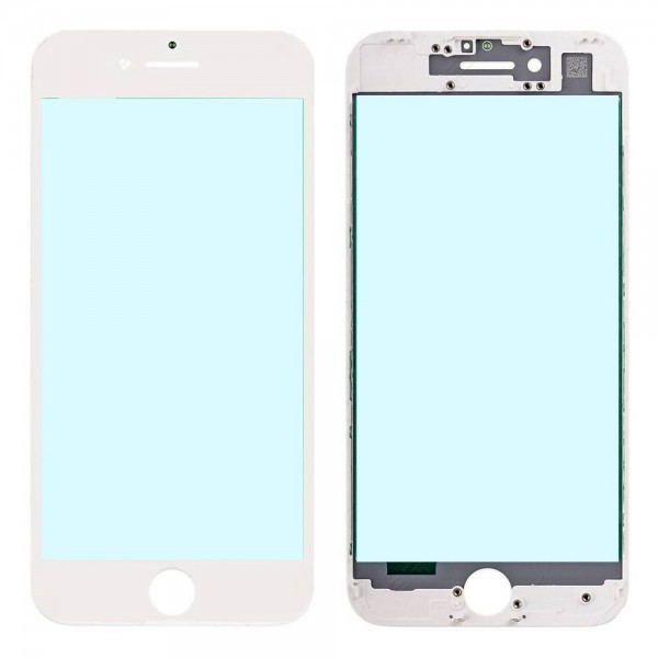 iPhone 7 Front Glass with Cold Pressed Frame - White