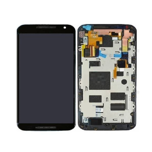 MOTO X2 LCD Screen and Digitizer Assembly with Frame - Black