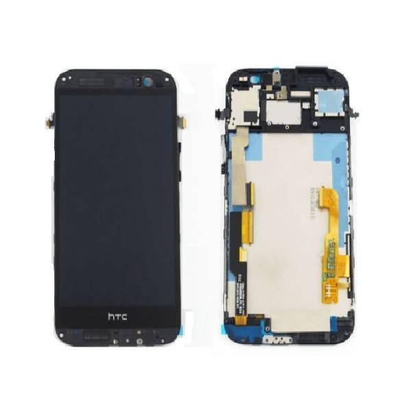 HTC One M8 LCD Screen and Digitizer Assembly with Frame - Gray