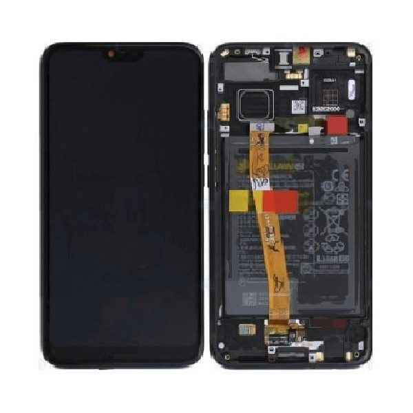 Huawei Honor 10 LCD Screen and Digitizer Assembly with Frame , Battery - Black - Original 02351XBM