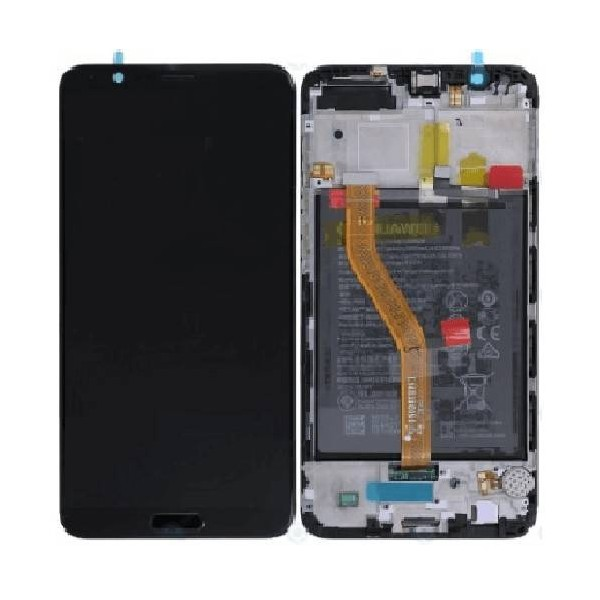 Huawei Honor View 10 LCD Screen and Digitizer Assembly with Frame , Battery - Black - Original 02351SXC