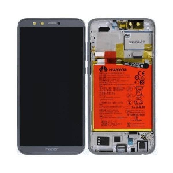 Huawei Honor 9 Lite LCD Screen and Digitizer Assembly with Frame , Battery - Gray - Original 02351SNR