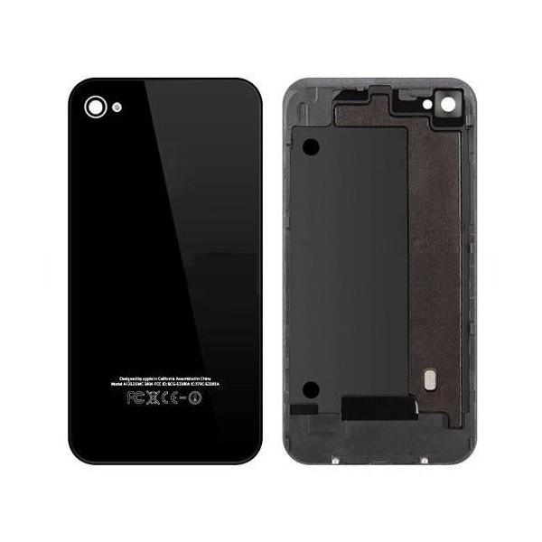 iPhone 4 Back Cover with Frame - Black - Original